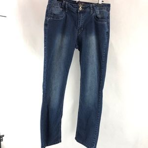 Angels Blue Denim Bling Bootcut Jeans 10